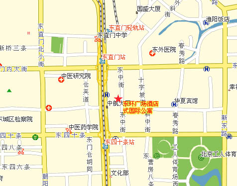 Beijing East Gate Plaza Service Apartment Map