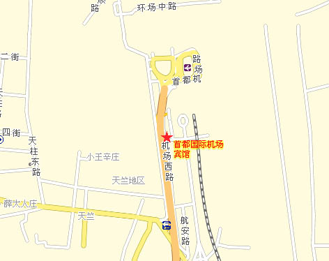 Beijing Capital Airport Hotel Map