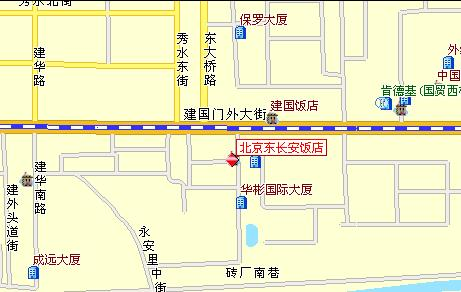 Dong Chang An Hotel, Beijing Map