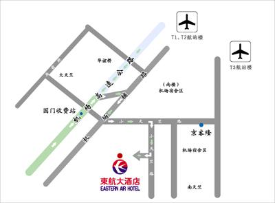 Eastern Air Hotel Beijing Map