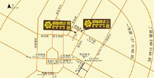 Enjoyable stars hotel ,Chengdu Map