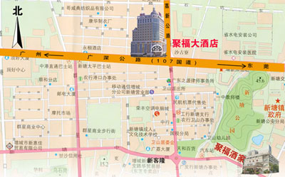 Guangzhou Fortune Hotel Map