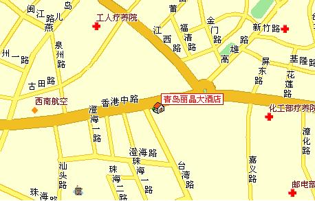 Grand Regency Hotel, Qingdao Map