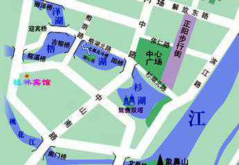 Guilin Bravo Hotel Map