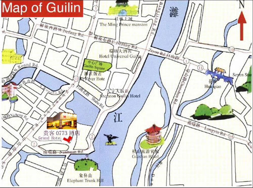 Guilin Grand 0773 Hotel Map