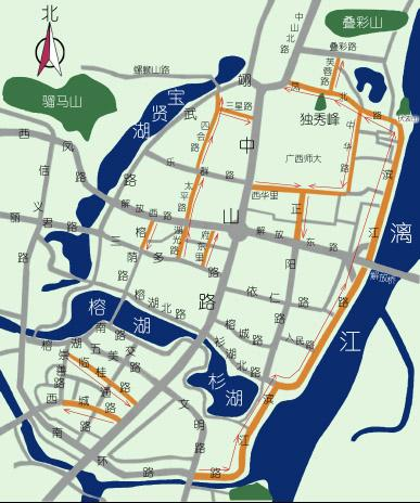 Guilin Jinpu Hotels Map