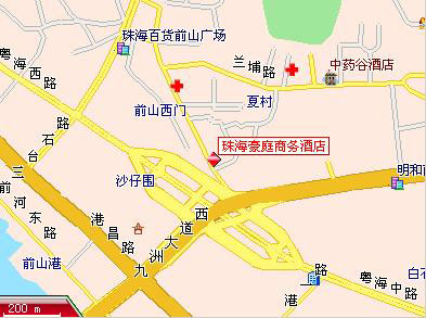 Haoting Commercial Hotel, Zhuhai Map