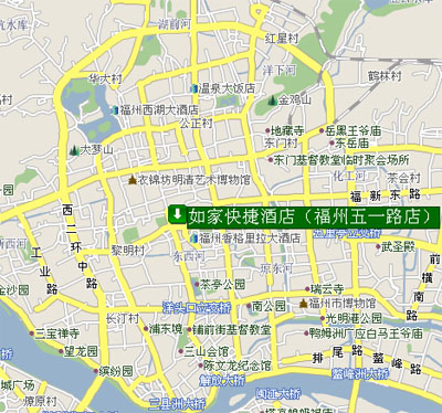 Fu Zhou Literary Fashion Hotel Map