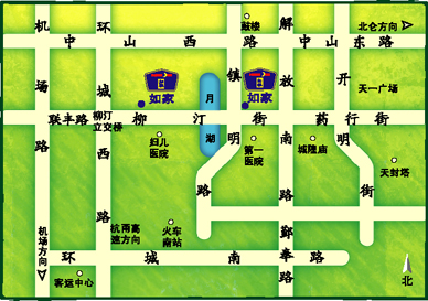 Home Inn - Ningbo Yuehu Branch Map