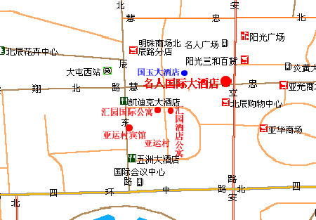 Huiyuan Apartment Beijing Map