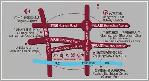 Imperial Traders Hotel,Guangzhou Map