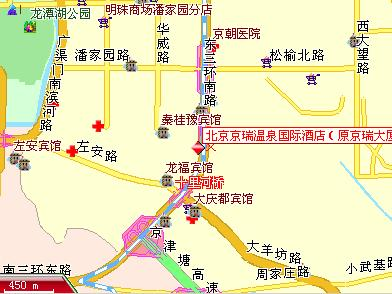 King Wing Hot Spring International Hotel, Beijing Map