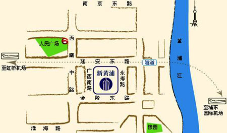 New Harbour Service Apartment, Shanghai Map