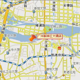 New Pearl River Hotel, Guangzhou Map