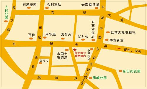 Dongguan Oriental Glory Business Hotel Map