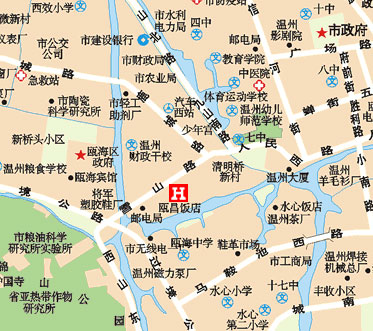 Ouchang Hotel, Wenzhou Map