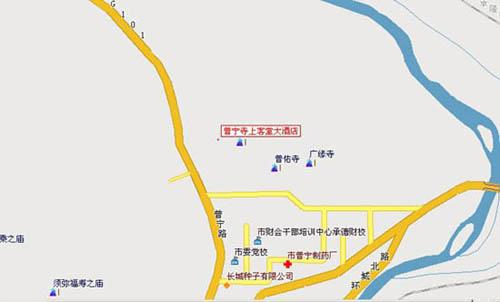 Puning Hotel, Chengde Map