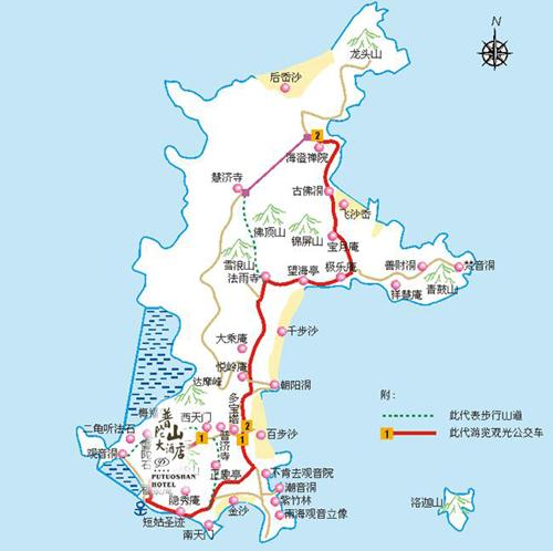 Putuoshan Hotel Map