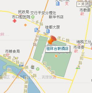 Tailian Hotel,Guilin Map