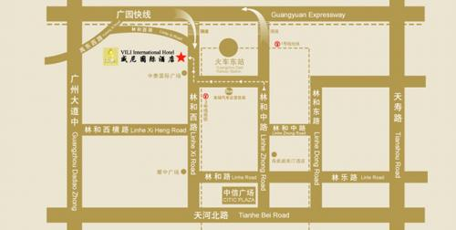 VILI International Hotel ,Guangzhou Map