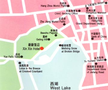 The new Hotel, Hangzhou Map