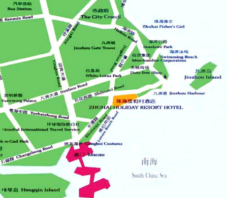 Zhuhai Holiday Resort Hotel Map